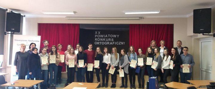 XX Powiatowy Konkurs Ortograficzny