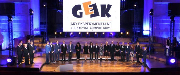 Wręczenie nagród konkursu GEEK – Wielka Gala 40-lecia PTI w Filharmonii Narodowej w Warszawie